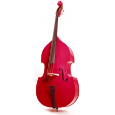 Контрабас STENTOR 1950LCRD Harlequin Rockabilly Double Bass 3/4 (RED)